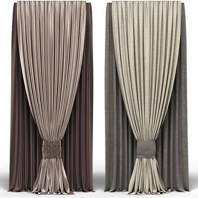 窗帘, 现代窗帘, 布艺窗帘, 窗纱, 纯色窗帘, 现代