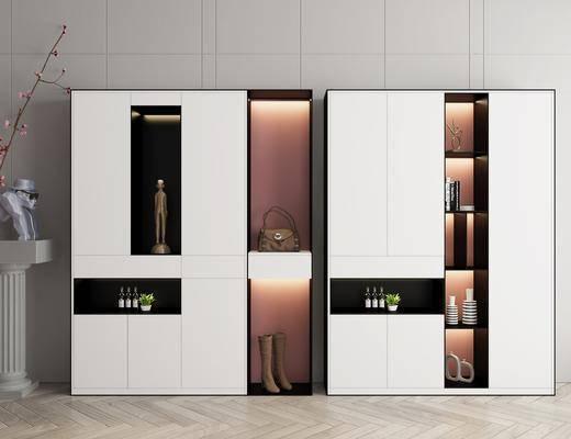 現代, 輕奢, 鞋柜, 柜架