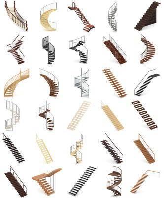 楼梯, 组合, 现代楼梯组合, 现代, 旋转楼梯