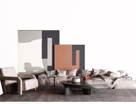 现代布艺沙发