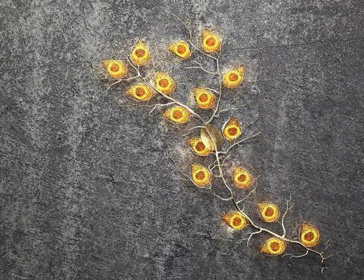 墙饰, 树枝, 装饰灯, 现代