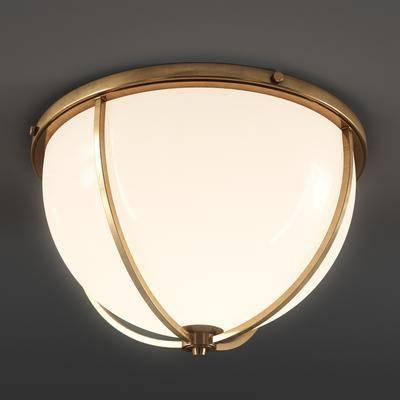后现代, 金属灯, 吸顶灯, 金属吸顶灯