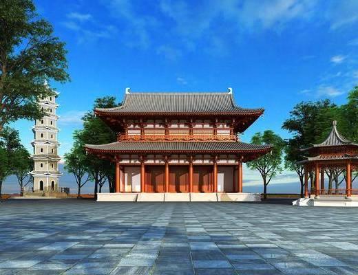 中式, 古建, 凉亭