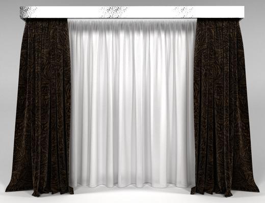 现代简约, 窗帘, 现代窗帘