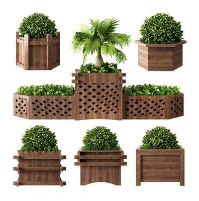 景观花坛, 花草, 植物组合, 花坛花箱, 新中式