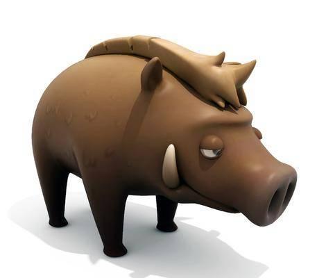 卡通小野猪