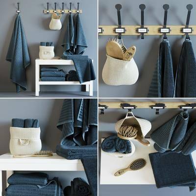 毛巾, 挂钩, 凳, 毛巾架, 北欧