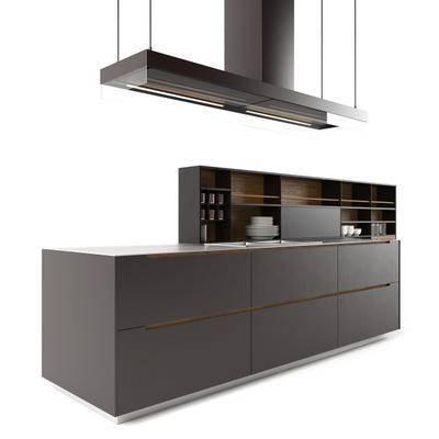橱柜, 吊灯, 餐具, 现代