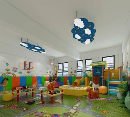现代儿童娱乐室
