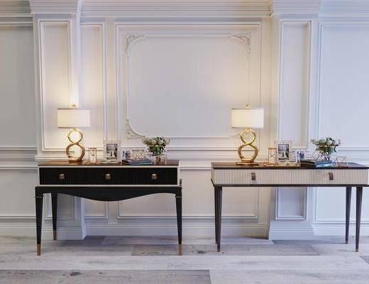 玄柜組合, 邊幾組合, 臺燈組合, 擺件組合, 飾品擺件, 簡歐
