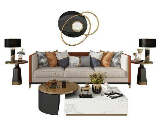 沙发, 茶几, 组合
