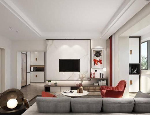 现代, 极简, 客厅