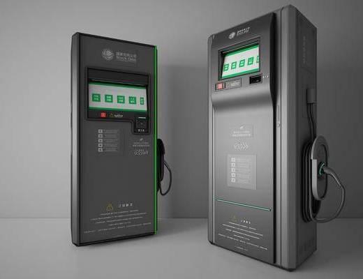 现代, 新能源, 充电桩, 摆件