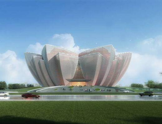 展览馆, 建筑外观, 楼盘, 建筑