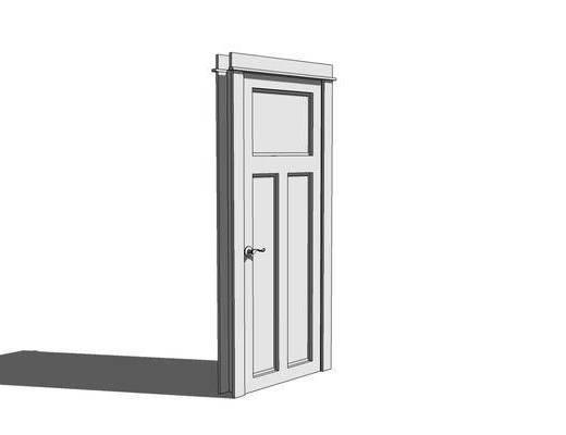 单开门, 房门
