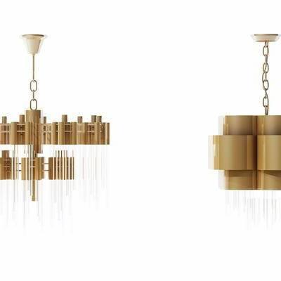 吊灯, 现代, 金属水晶吊灯