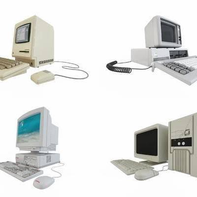 老款电脑, 老式电脑, 显示器, 主机, 机箱