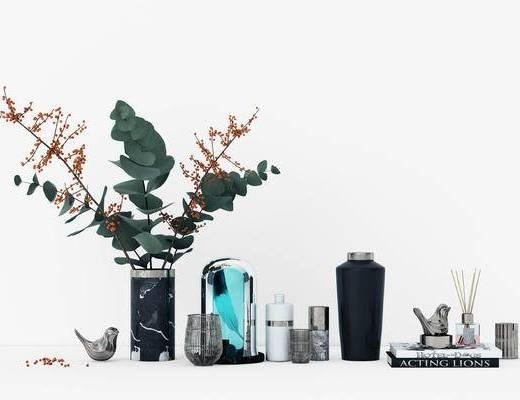 花瓶摆件, 装饰品, 盆栽, 植物