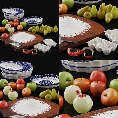 水果, 器皿, 碗碟, 餐具, 美式水果, 美式餐具, 美式, 双十一