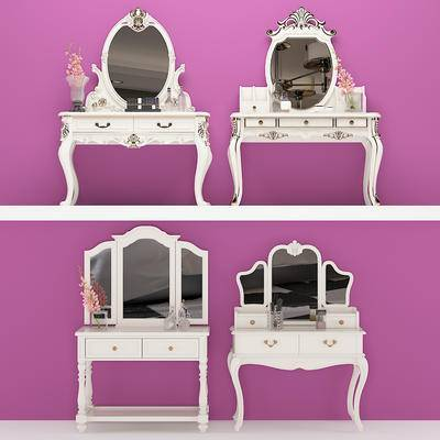 梳妆台, 欧式, 镜子