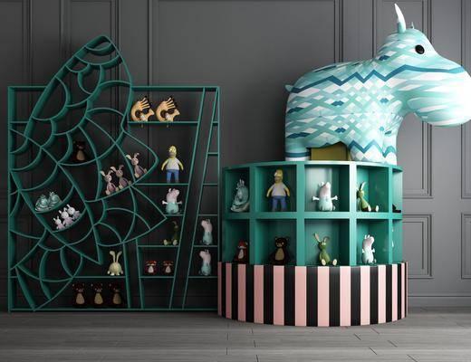 书架, 读物, 玩具, 公仔, 毛绒玩具, 装饰品摆件