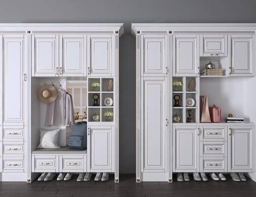 鞋柜, 鞋子, 裝飾柜, 擺件組合, 服飾, 簡歐