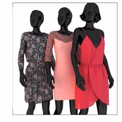 女人, 服装店, 衣服, 模特, 服装, 女装, 现代