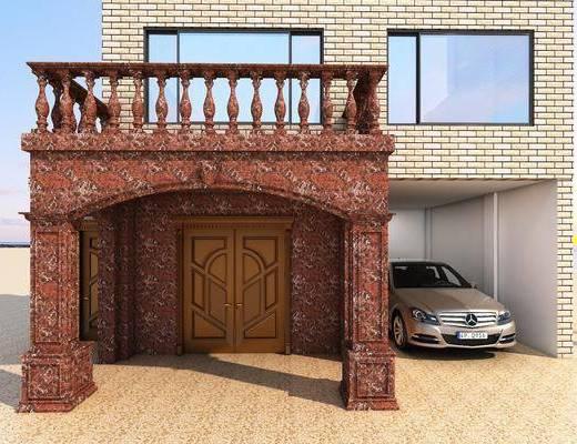 车库, 门头, 门面