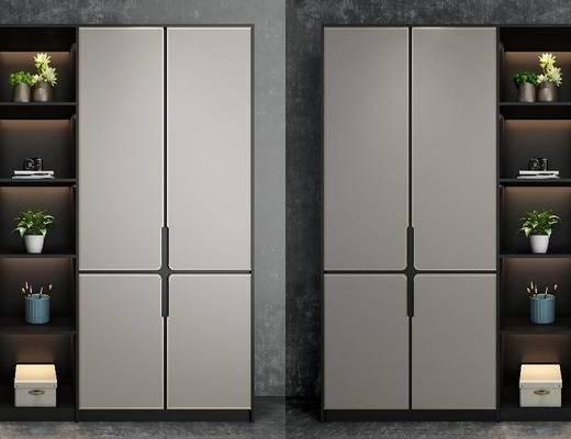 现代鞋柜, 衣柜, 鞋柜, 置物柜