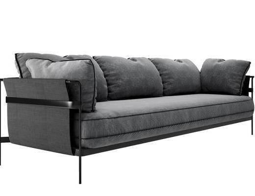 现代多人沙发, 多人沙发, 现代沙发, 沙发