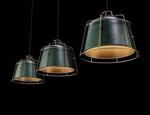 工业风, 吊灯, 灯具
