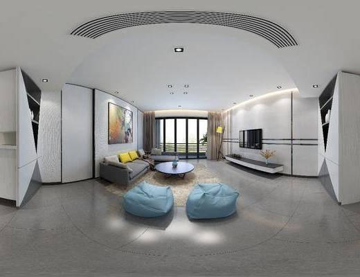 客厅, 餐厅, 沙发组合, 沙发茶几组合, 边柜组合, 吧椅组合, 现代