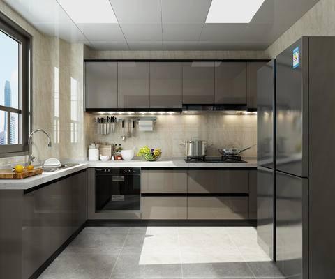 现代厨房, 现代橱柜, 厨房, 后现代厨房, 厨具