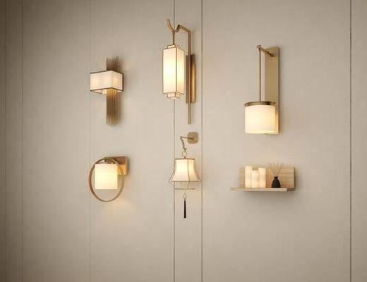 中式壁灯组合