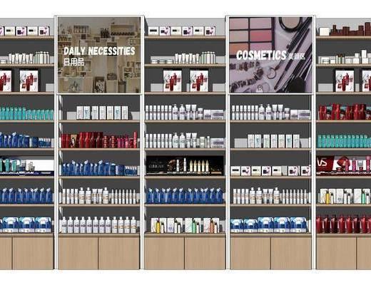 现代化妆品货架, 护肤品展柜