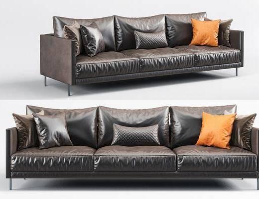 沙发, 多人沙发, 单椅, 休闲椅, 茶几, 边几, 装饰画, 挂画, 摆件, 装饰品, 现代