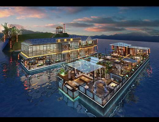 海上餐厅, 餐厅, 现代