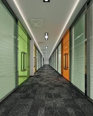 走廊过道, 彩色玻璃, 现代简约