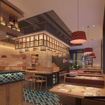日韩餐厅, 餐桌椅