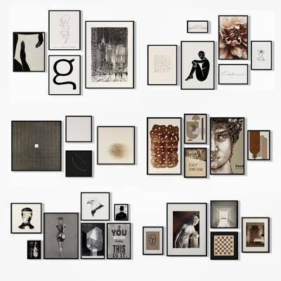 装饰画, 挂画, 组合画, 照片墙, 现代