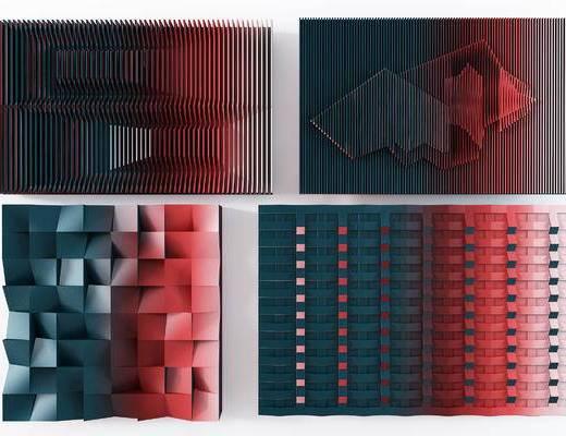 现代墙饰挂件组合