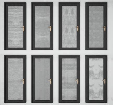 玻璃门, 烤漆门, 单开门