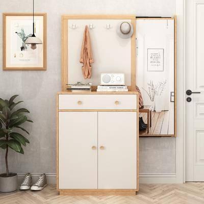 鞋柜, 柜架组合, 装饰画, 摆件组合