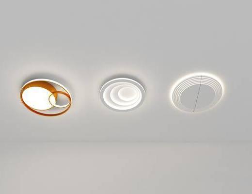 現代, 簡約, 吸頂燈, 燈具
