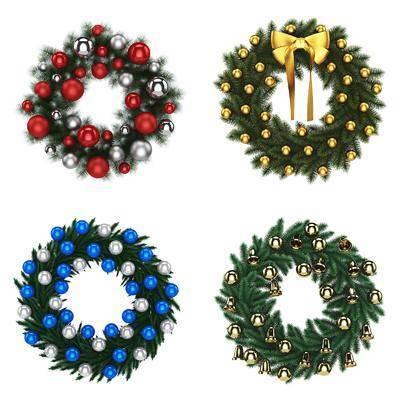 圣诞, 饰品, 墙饰