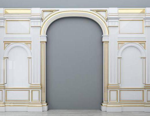 门拱门洞, 背景墙, 欧式