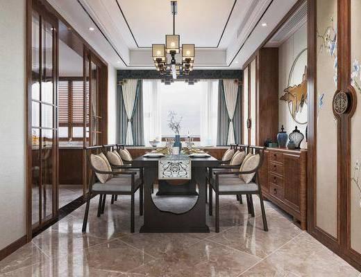 沙发组合, 茶几, 吊灯, 餐具组合, 墙饰, 边柜, 摆件组合