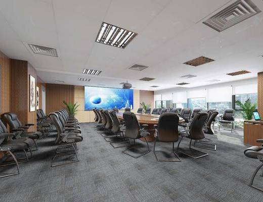 会议室, 办公室, 办公椅, 单人椅, 现代