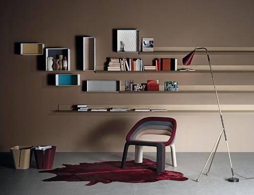 现代, 个性, 休闲椅, 组合, 单体