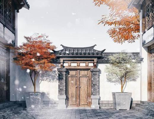 中式小門頭, 門頭, 古建門頭